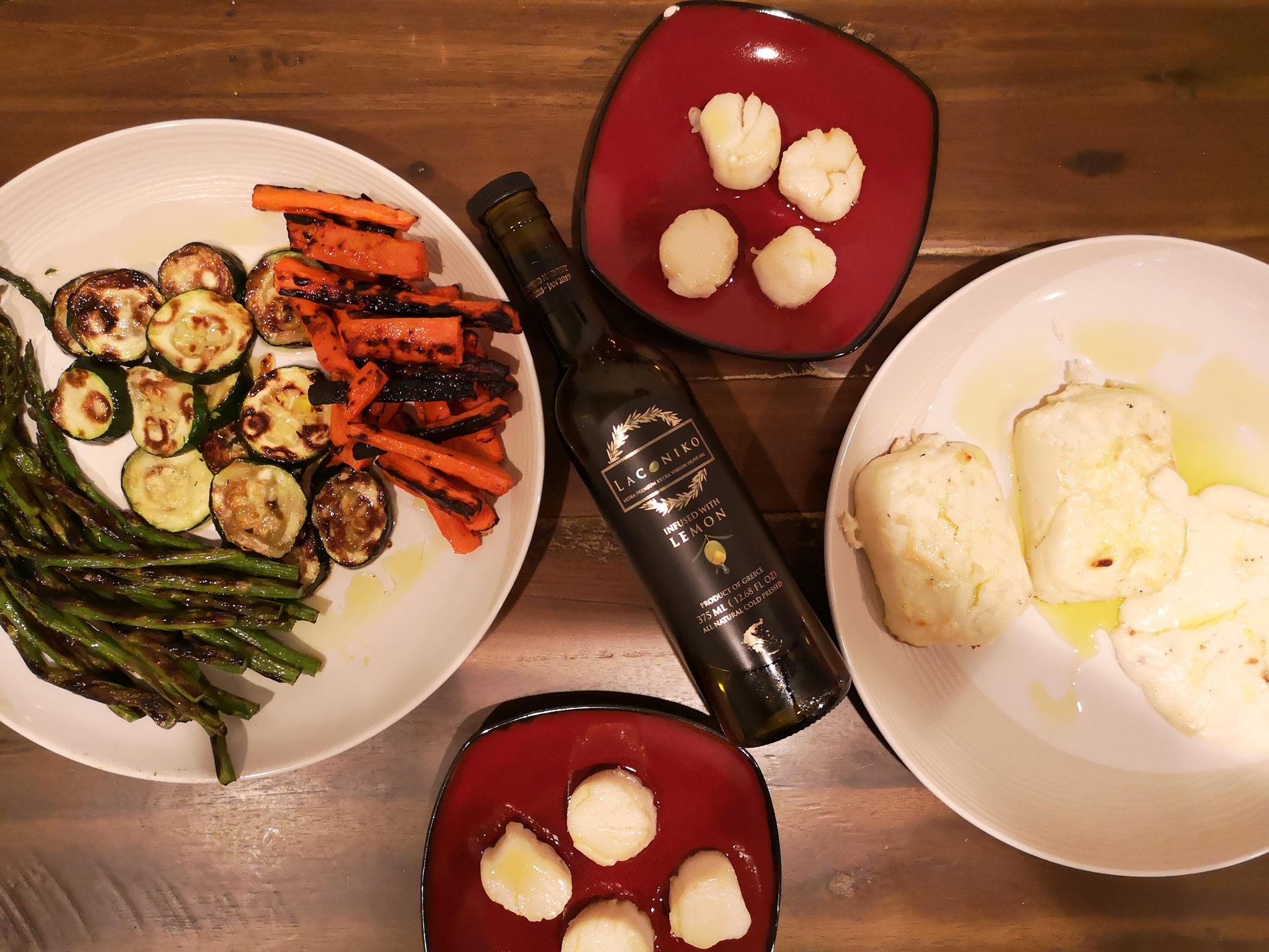 30 Minute Cooking With Laconiko - Grilled Cypriot Halloumi & Vegetables With Pan Seared Scallops
